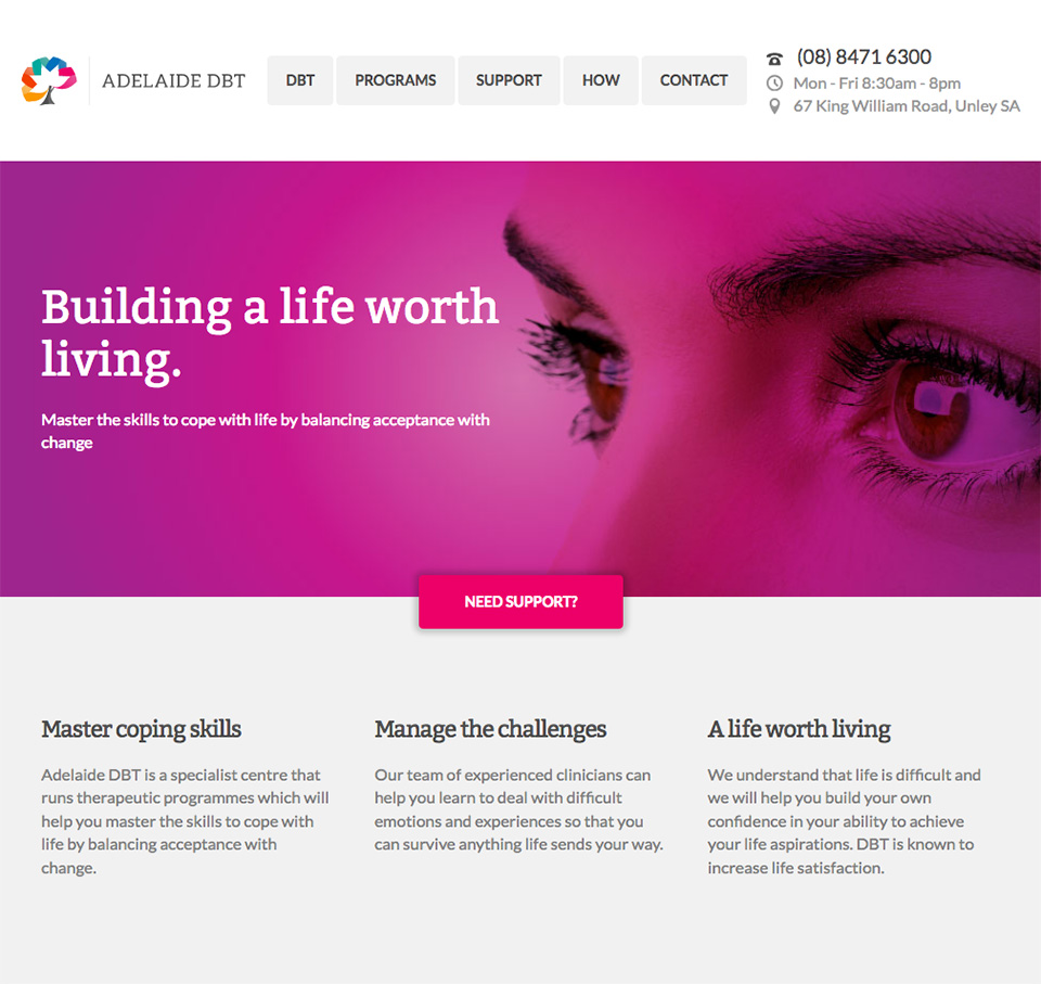 Homepage for Adelaide DBT