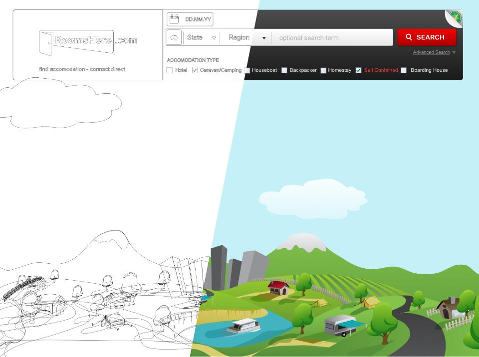 Accomodation landing page design