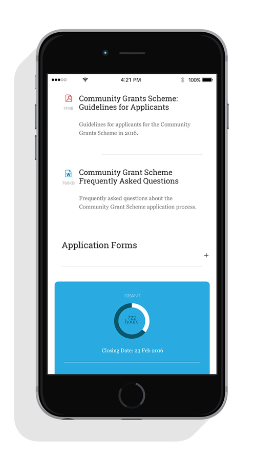 Detailed page on mobile for Waste Authority